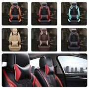 9pc Pu Leather Car Seat Covers Cushions Front Rear Suv Deluxe Interior Protector