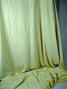 Farmhouse Yellow Vintage Chenille Bedspread Fabric 20and039 X 100.