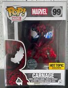 Carnage Funko Pop 99 Signed By Stan Lee Hot Topic Exclusive W/coa