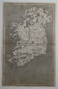 Antique Cooperplate Map Of Ireland 1808 Geography Arrowsmith By Rees And Row