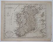 Antique Cooperplate Map Of Ireland 1785 Geography