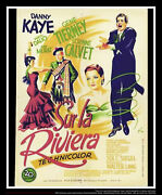 On The Riviera 24 X 32 French Moyenne Fold Movie Poster Original 1951