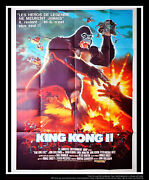 King Kong 2 Rare Undistributed 4x6 Ft French Grande Movie Poster Original 1986