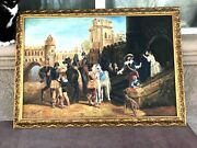 A Very Fine Large Original Early 20th Century Allegorical Painting