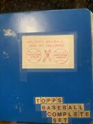 1980🔥topps Baseball Complete Nm Set In Binder 726 Cards