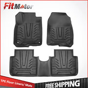 Front+rear Injection Mould Tpe Floor Mats Liners Foot Pads For 17-21 Honda Cr-v