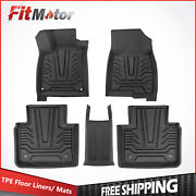 Front+rear Injection Mould Tpe Rubber Floor Mats Liners For 18-21 Honda Accord