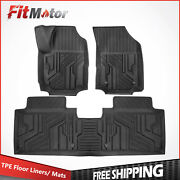 Front+rear Injection Mould Tpe Rubber Floor Mats Liner For Chevy Equinox 2018-21