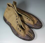 Us Ww2 Jungle Shoes Sneakers Boots Canvas Rubber. 8 1/2. Named Crispy. S309
