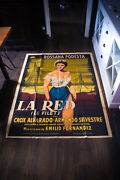 La Red Rossanna Podesta 4x6 Ft Vintage French Grande Movie Poster 1953 Used