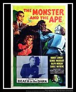 The Monster And The Ape On Linen 27x40 Us One Sheet Movie Poster Original 1956