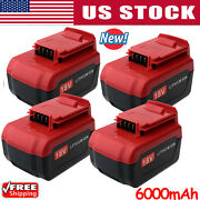 6.0ah For Porter Cable Lithium-ion Battery 18v Pc18b Pc18bl Pc18blx Cordless 18v