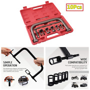 Car Motorcycle Engine Valve Spring Compressor Tool Set With 5 Sizes Adapters