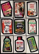 1974 Topps Wacky Packs Series 7 Complete Set W/puzzle Nm 33/33 Packages Grime