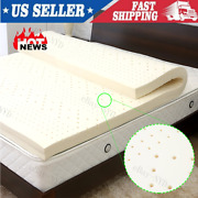 3and039and039 Natural Latex Mattress Topper Dunlop 100 Pure Non-toxic Chemical Free Ship