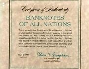 Banknotes Of The World Franklin Mint