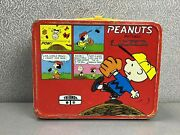 Vintage Thermos 1965 Schulz Peanuts Lunch Box Tin Metal Charlie Brown Snoopy