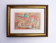 Awesome Paul Klee Original 1938 Color Lithograph Winter Love Framed Signed Coa