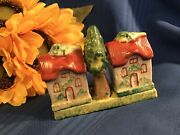 Vintage Cottage Salt And Pepper Shakers Made In Occupied Japan