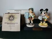 Signed Rare Mib Limited Ed-disney Goebel Hummel For Father Mickey Mouse