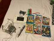 Nintendo Wii U Basic Set 8gb White Handheld System And Controllers And Game Set