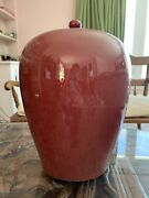 Chinese Antique Red Flambe Glazed Ginger Jar
