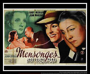 Lies Gaby Morlay 5x8 Ft Double French Grande Movie Poster Original 1946