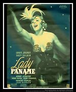 Lady Paname On Linen 4x6 Ft French Grande Movie Poster Original 1949