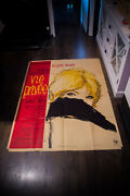 A Very Private Affair Bardot 4x6 Ft French Original Movie Poster 1962 Used