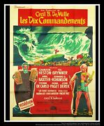 The Ten Commandements 4x6 Ft Vintage French Grande Movie Poster 1956