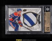 2015 Exquisite Collection Jumbo Connor Mcdavid Rookie Rc Patch /35 Rjcm Bgs 9.5