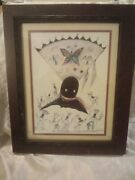 Rare Ted Degrazia A Midnight Sketch Crown Dancers 3 Am Winter Of 1976 Print