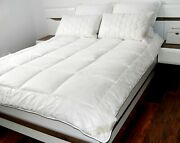 Merino Wool Duvet Quilt 100 Natural Bed Cotton All Sizes Summer 4.5 Tog 250gsm