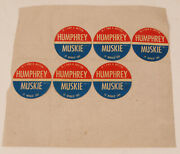 If I Had A Button It Would Say Humphrey Muskie Political Campaign Sticker Rare