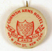 Cornish Arms Hotel Button Pin New York The Broadmoor Apartments One And All
