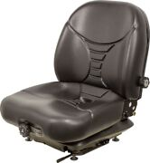 Milsco V5300 Black Vinyl Mech. Suspension Seat And Seatbelt With Safety Switch