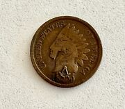 Interesting- 1899 Indian Head Penny With Masonic Symbol See Other Gold And Gold