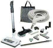 35' Central Vacuum Kit With Hose, Power Head And Tools Beam Nutone Drainvac Hayden