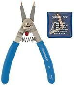 Channellock 927 8-inch Snap Ring Plier | Precision Circlip Retaining Ring Plier