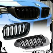 Carbon Fiber Look Front Grill Grilles For Bmw 3-series F30 F31 F35 12-18 4d Pair