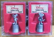 Pewter Disney Thimble Set Of 2 Mickey Minnie Vintage Fs From Japan