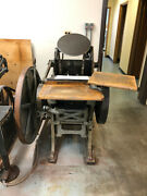 Chandler And Price 10x15 Printing Press With 2 Numbering Machines