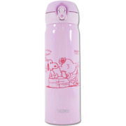 [thermos] Peanuts Snoopy Lightweight Compact Type Mug 0.5l/pink/japan Limited