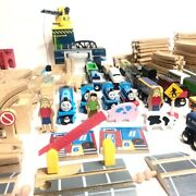 240 Pieces Thomas The Train And Imaginarium Huge Lot Of Wood Trains And Tracks