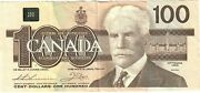 Canada 100 Dollars 1988 F Ajx Thiessen-crow Replacement H Bpn