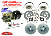 1964-66 Ford Mustang Front Drum To Power Disc Brake - Low Profile M/c, Xd Rotors