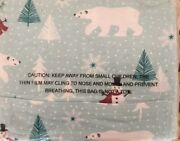 North Pole Trading Co. Heavyweight Flannel Sheet Set - King Size - Bears Snowman