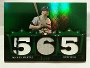 2007 Topps Triple Threads Mickey Mantle 3 Piece Jersey Pinstripe 7/18 Ny Yankees