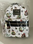 Loungefly Peter Pan Tattoo Print Le 600 Grotto Treasure Exclusive Sold Out