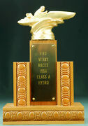 Vintage 1956 Motorboat Speed Boat Class A Hydro Racing Trophy 3rd Place Veevay